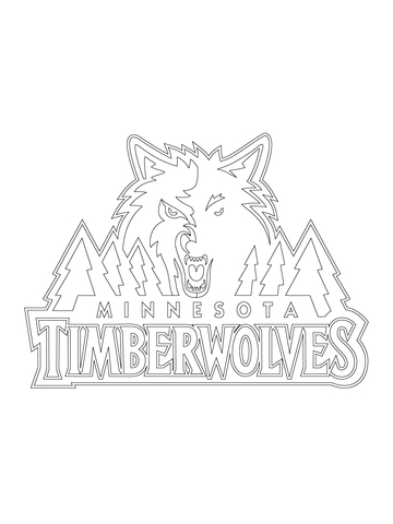 Minnesota Timberwolves Logo coloring pag-Minnesota Timberwolves Logo coloring page-17