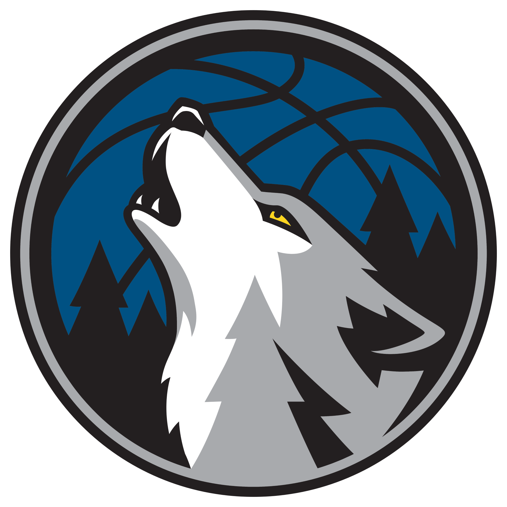 Minnesota Timberwolves officially unveil new logo -  SBNation clipartlook.comclockmenumore-arrow : The Wolves showed