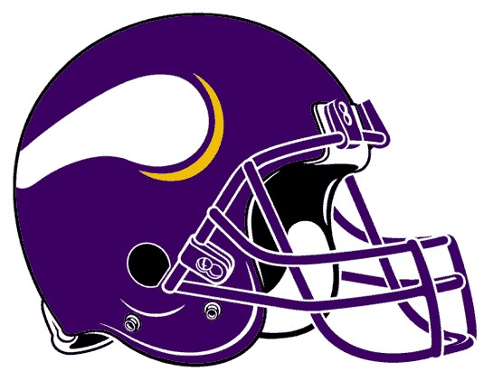 Minnesota Vikings Helmet . - Minnesota Vikings Clipart