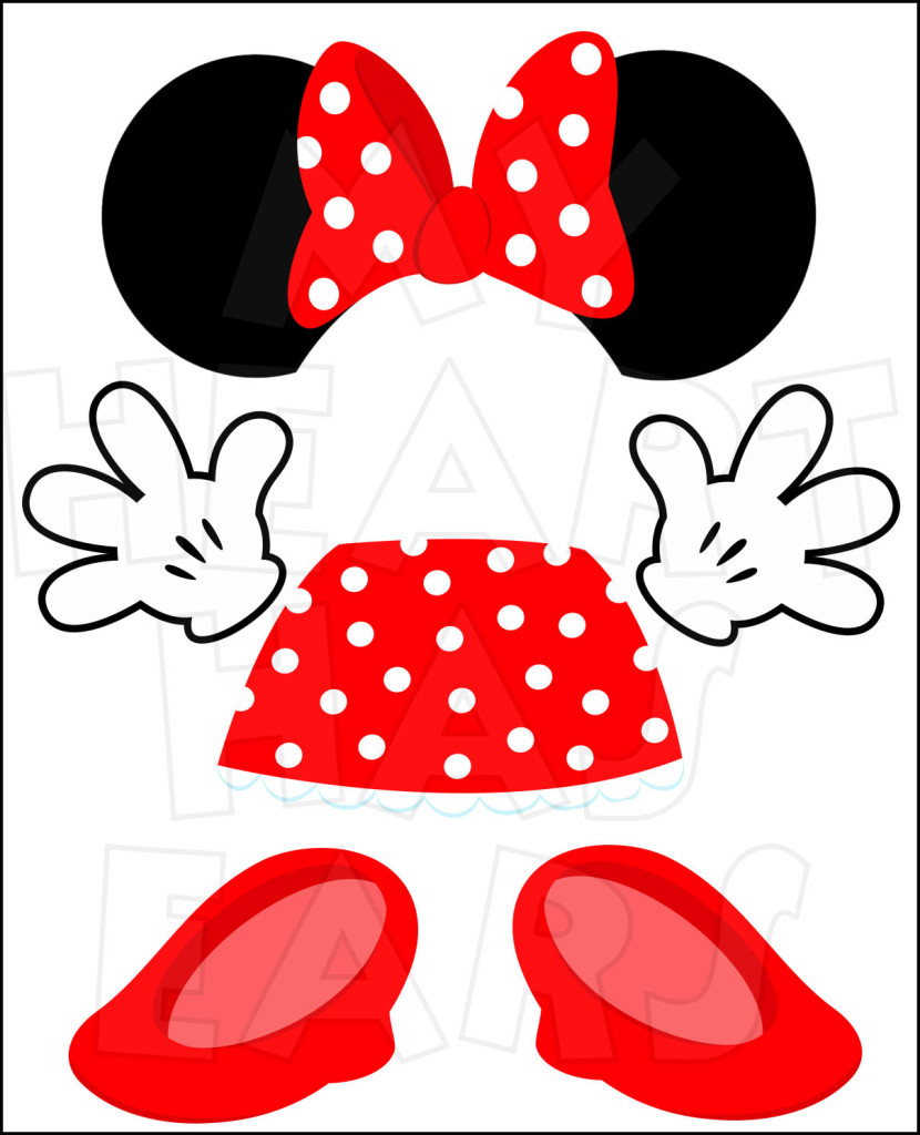 Minnie Mouse Body Parts For State Room D-Minnie Mouse Body Parts For State Room Disney Cruise Door Instant-6