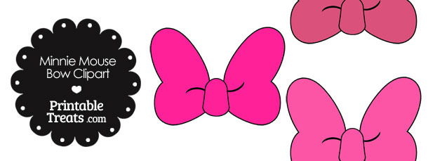 Minnie Mouse Bow Clipart In Shades Of Pi-Minnie Mouse Bow Clipart In Shades Of Pink-15