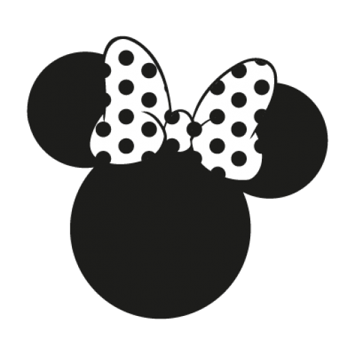 Minnie Mouse Disney Logo Vect - Minnie Mouse Silhouette Clip Art