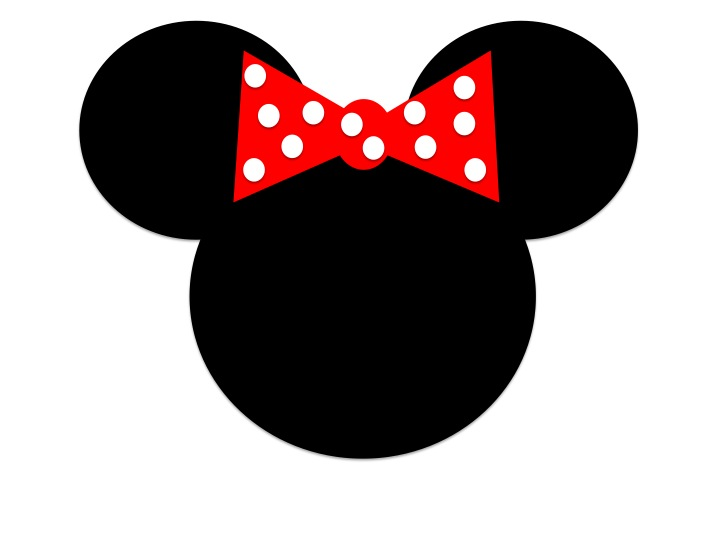 Minnie Mouse Face Outline .-Minnie Mouse Face Outline .-6