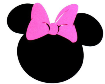 minnie mouse head . - Minnie Mouse Silhouette Clip Art