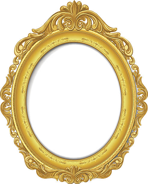 Gold Picture Frame Vector Art Illustrati-gold picture frame vector art illustration-6