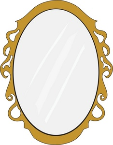Mirror Clipart Image Oval Mirror With Gold Frame