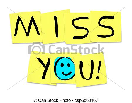 Miss You Clipart #1