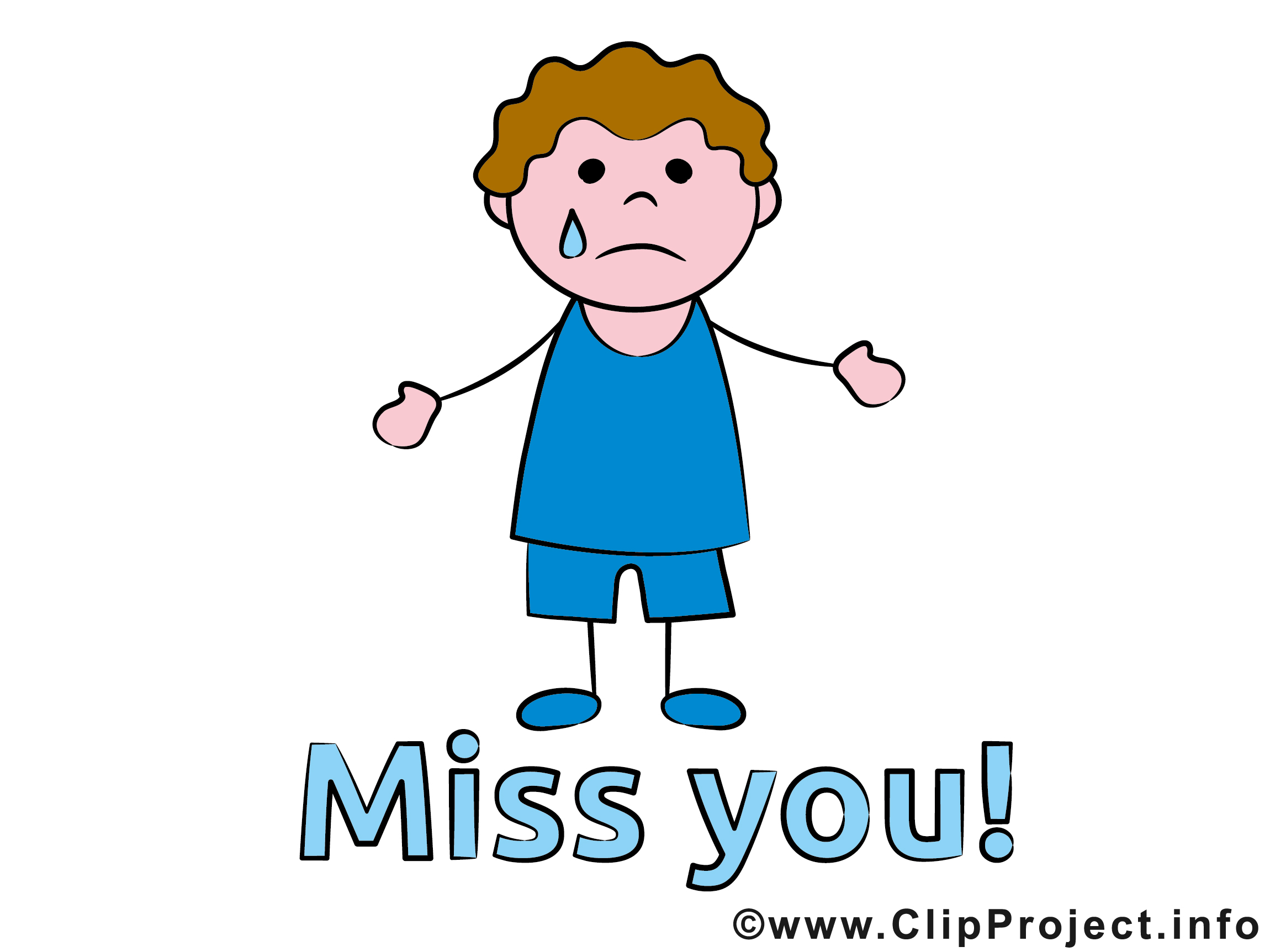 Miss You Co-worker Clipart #1 .