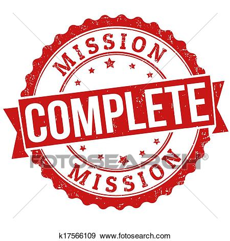 Clip Art - Mission complete stamp. Fotos-Clip Art - Mission complete stamp. Fotosearch - Search Clipart,  Illustration Posters, Drawings-13