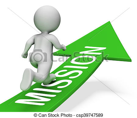 Mission Arrow Shows Motivation Goals 3d -Mission Arrow Shows Motivation Goals 3d Rendering - csp39747589-12