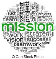 Mission concept in word tag cloud - Mission and bussiness.