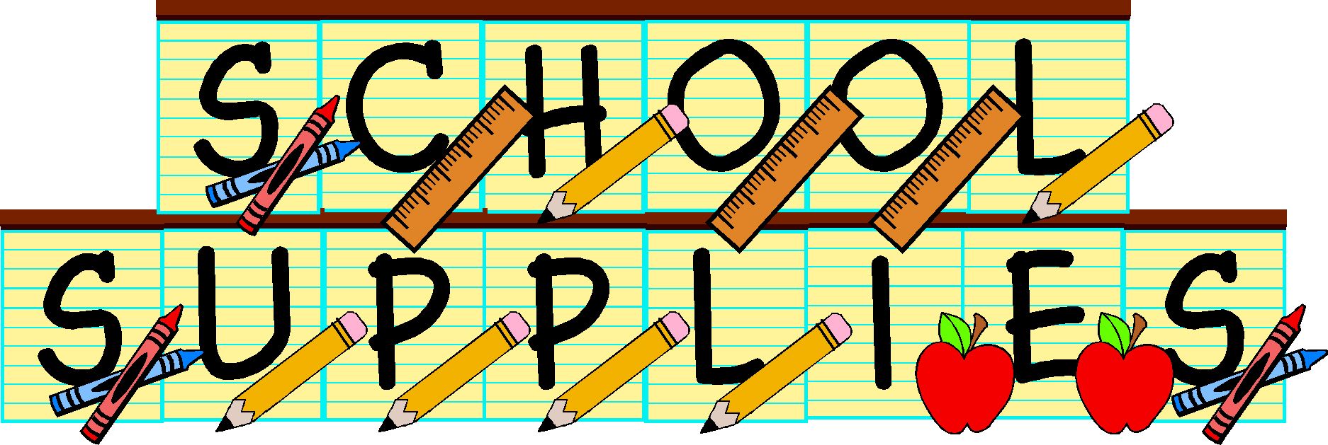 School Supplies Clip Art 4 Ro