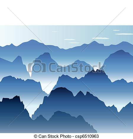 blue morning mist in the mountains - csp6510963