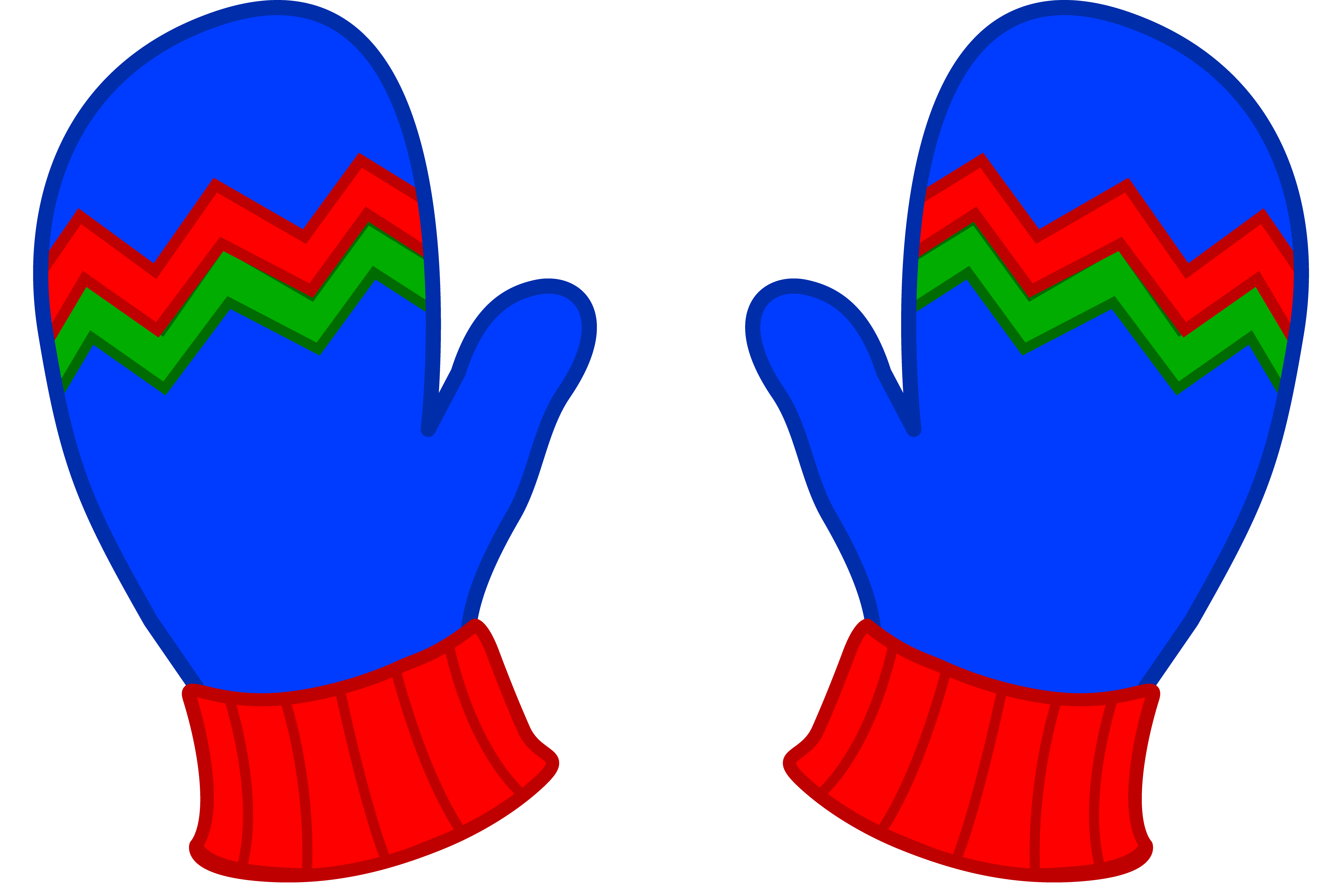 Red Single Mitten
