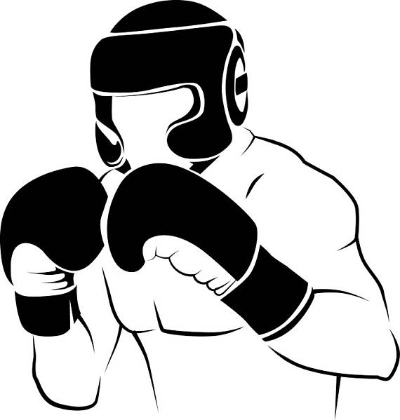 Boxer #2 Boxing Fight Fighting Fighter MMA Mixed Martial Arts Boxer  Equipment Competition .SVG .EPS Clipart Vector Cricut Cut Cutting File