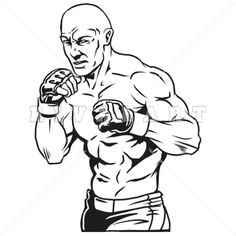 Clipart Image of MMA UFC Cage Fighters Graphic http://www.rivalart.