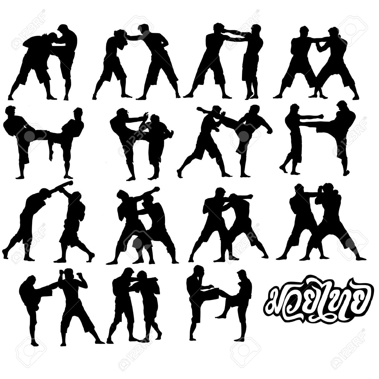 Mixed Martial Arts Clipart