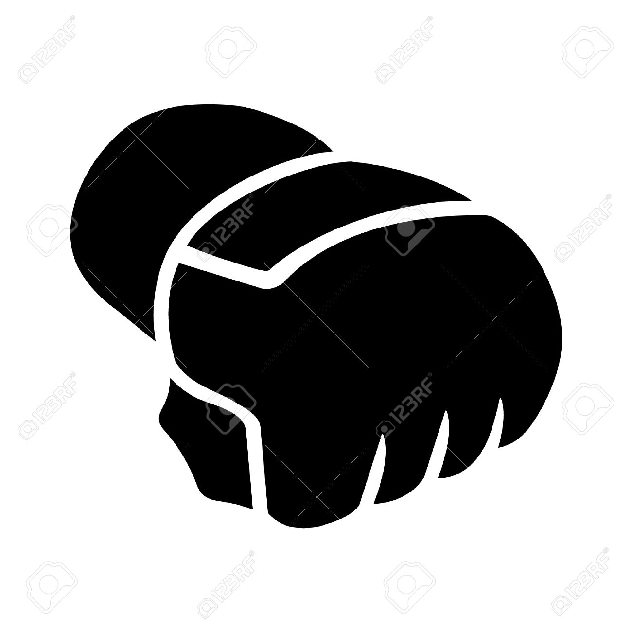 Mixed Martial Arts - MMA - gloves flat icon Stock Vector - 42411107