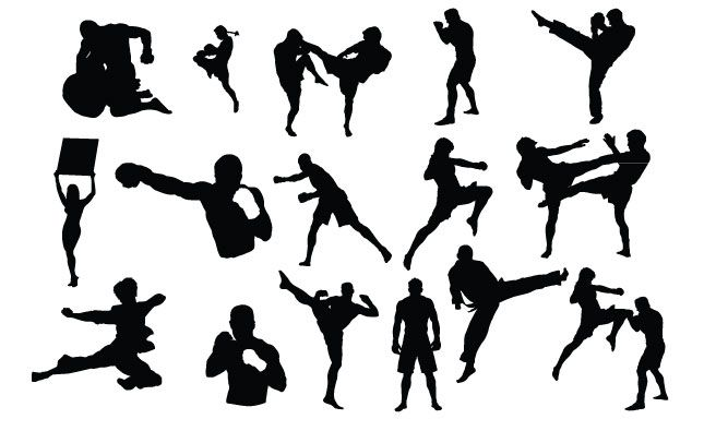 MMA Fighters Vector Pack Graphics Introducing our MMA Fighters Vector  PackThe MMA Vector Graphics Fighters Pack includes 18 silhouett by Go Media