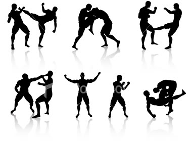 Mixed Martial Arts Clipart #1