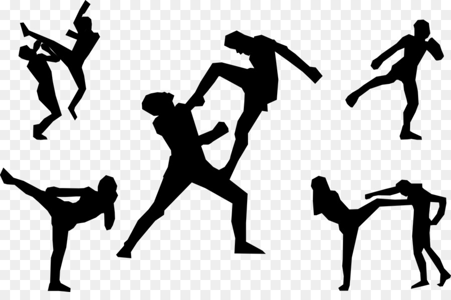 Muay Thai Kickboxing Martial arts Karate-Muay Thai Kickboxing Martial arts Karate Clip art - mixed martial artist-16