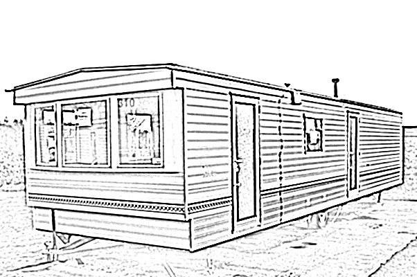 Mobile Home Sketch Image Sket - Mobile Home Clipart