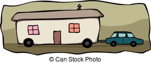 ... Mobile home towing - Cart - Mobile Home Clipart