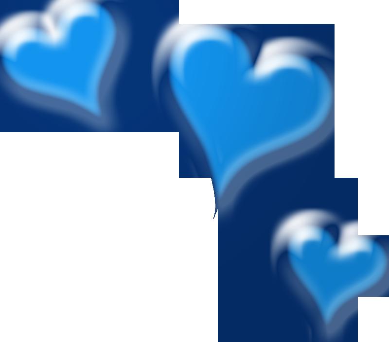 Modern Blue Heart Clip Art