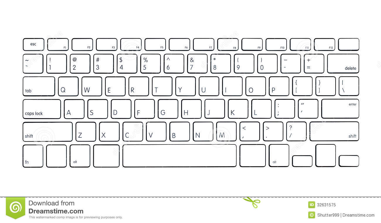 Modern Computer Keyboard Royalty Free Stock Photo Image 32631575
