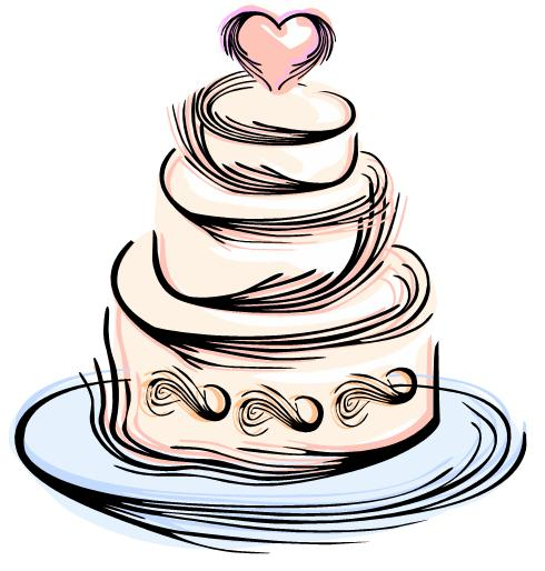 Modern wedding cake clip art free clipart images