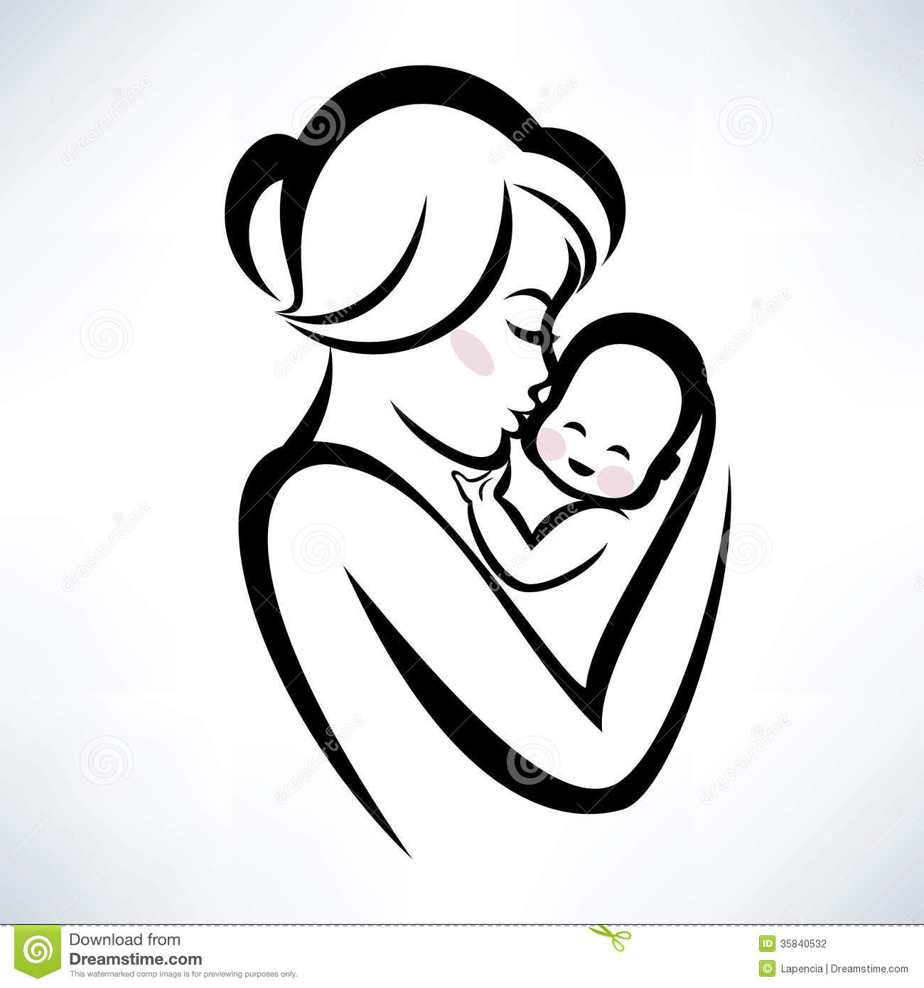 mom and child clipart