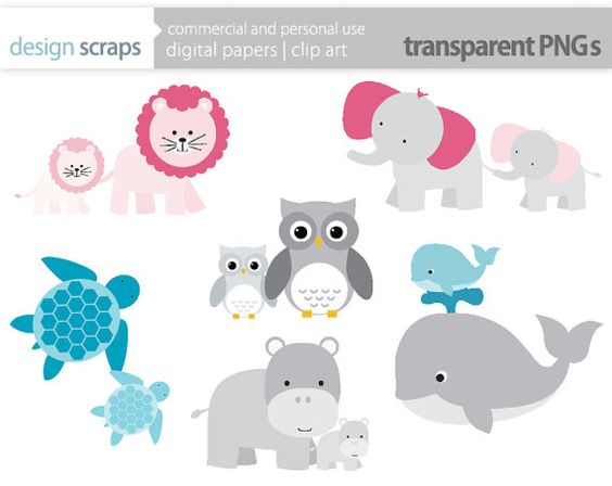 mom baby animal clip art graphics, baby shower motheru0026#39;s day animals digital clipart owl whale