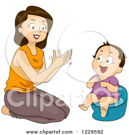 Mom Clapping And Potty Training Her Daug-Mom Clapping And Potty Training Her Daughter by BNP Design Studio-3
