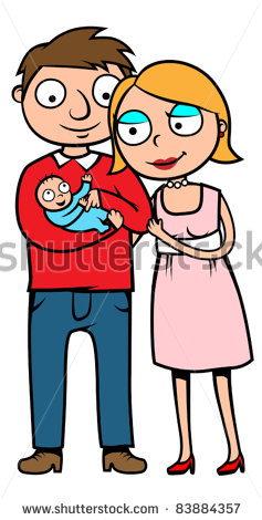 Mom Dad And Baby Clipart