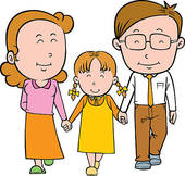 Mom Dad Daughter Clipart #1