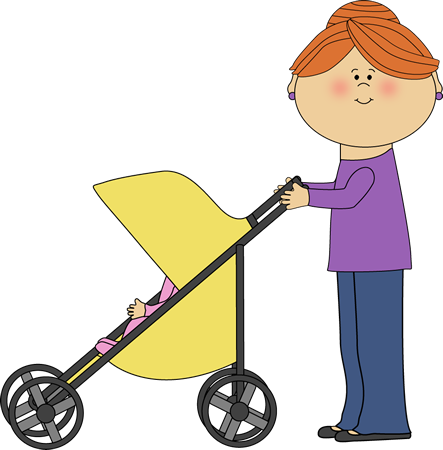 Mom Pushing Baby Stroller-Mom Pushing Baby Stroller-2