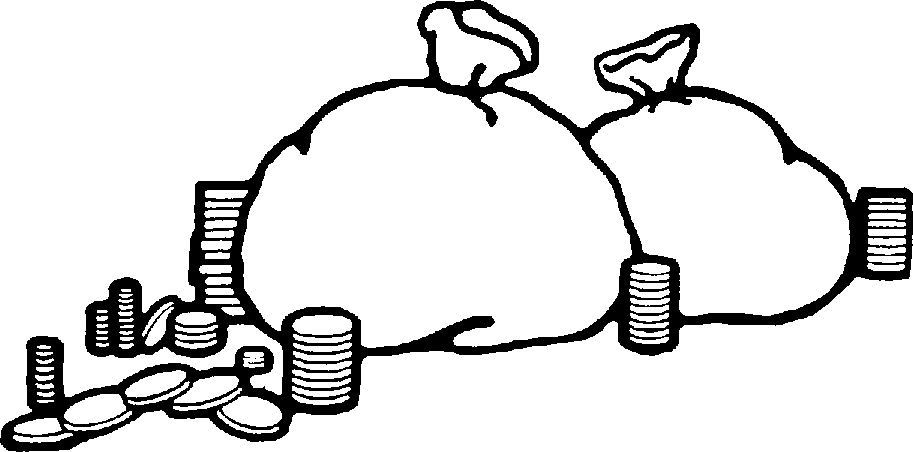 Money Clipart Black And White-money clipart black and white-8