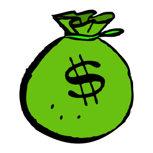 money clipart - Money Bag Clip Art