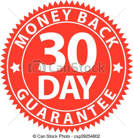 30 Day Money Back Guarantee Red Sign, Ve-30 day money back guarantee red sign, vector illustration vector clipart -  Search Illustration, Drawings and EPS Graphics Images - csp39254802-0