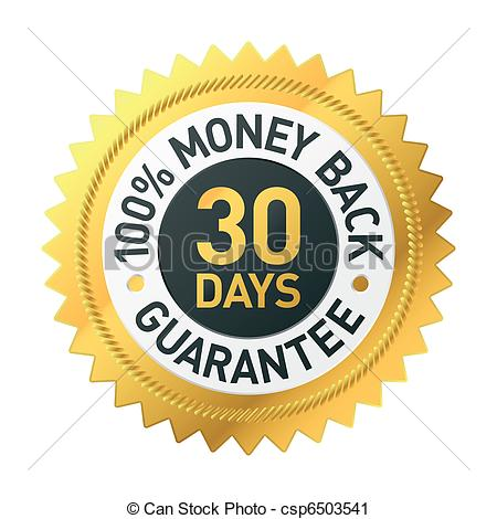 30 Days Money Back Guarantee Label - Csp-30 days money back guarantee label - csp6503541-1