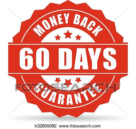 60 Days Money Back Guarantee Icon Isolat-60 days money back guarantee icon isolated on white background-4