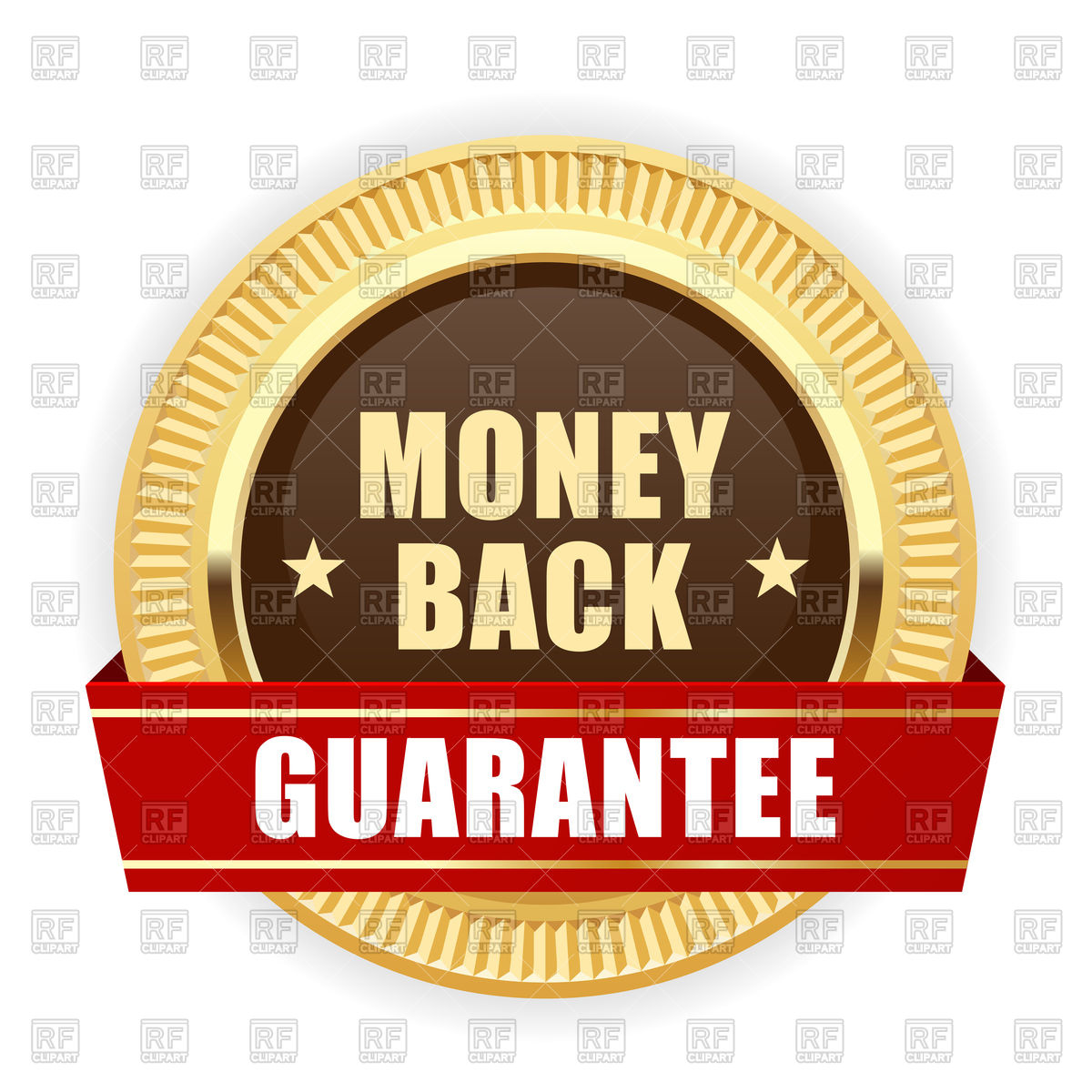 Golden Medal Money Back Guarantee Royalt-Golden medal Money Back guarantee Royalty Free Vector Clip Art-11