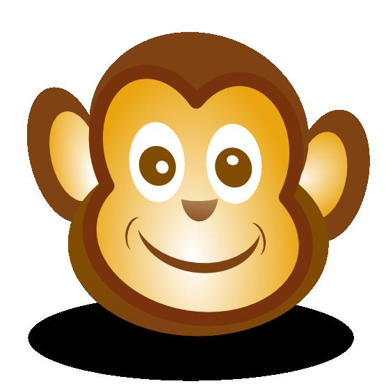 monkey face clip art black and white-monkey face clip art black and white-13
