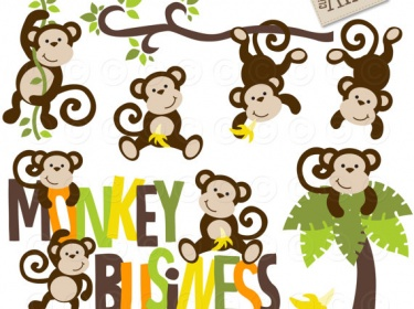 Monkey and Clip art .-Monkey and Clip art .-19