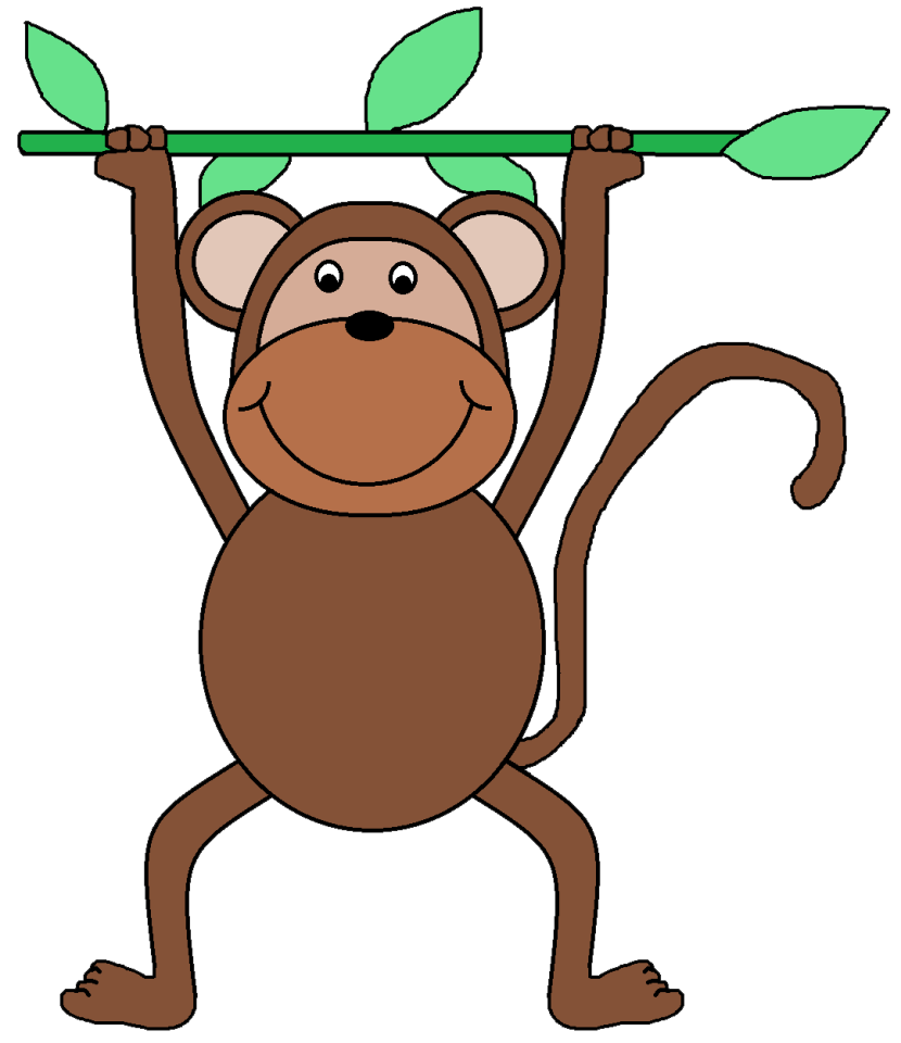 Monkey Clip Art Black And