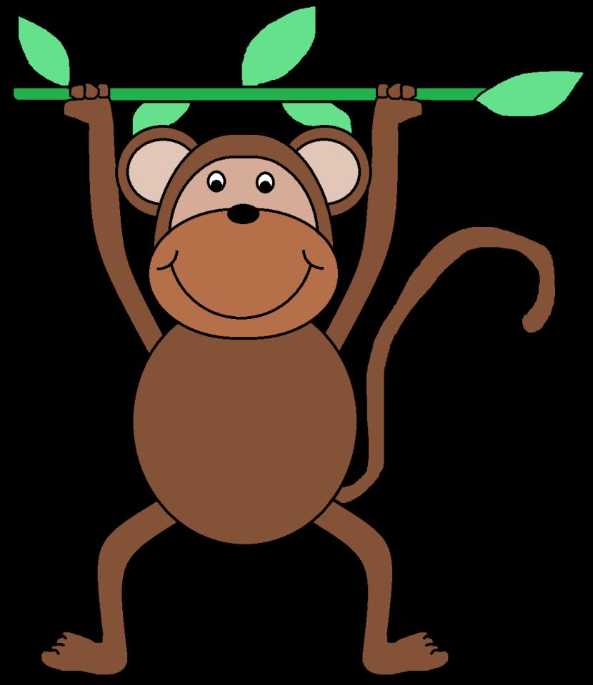 Monkey Clip Art Black And-Monkey Clip Art Black And-4
