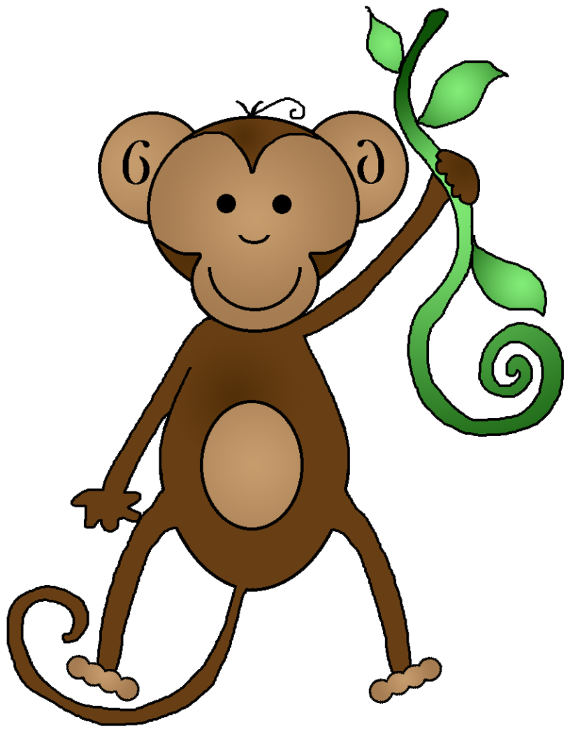 Monkey Clip Art Black And White Free Clipart Images