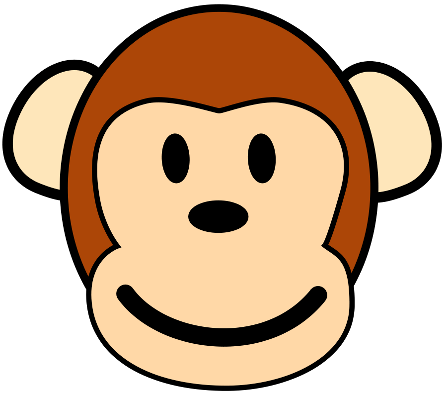 Monkey Clip Art Cartoon-Monkey Clip Art Cartoon-9