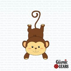 Monkey Clip Art Cute Baby Monkey Clip Ar-Monkey Clip Art Cute Baby Monkey Clip Art by GraphicGears, $2.00-14