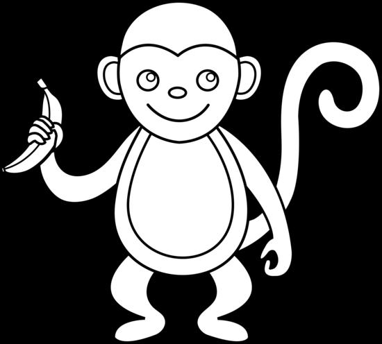 Monkey Clip Art Monkey Line Art Png
